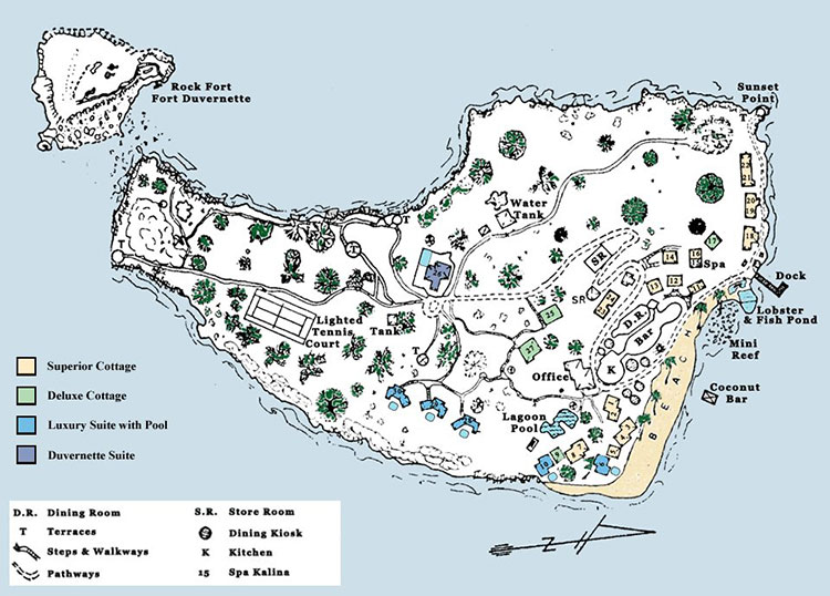 Young Island Resort Map