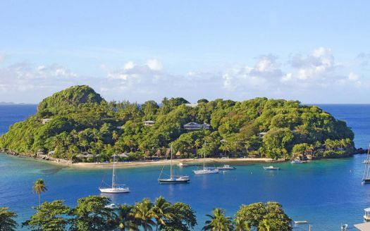 Young island in the Caribbean for sale