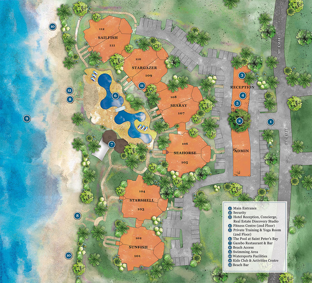 Saint Peter's Bay Resort Layout