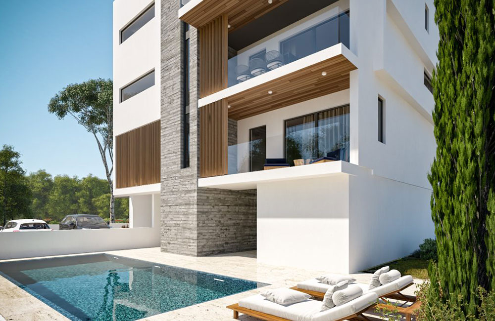 development of 6 luxury apartments in Kato Paphos for sale