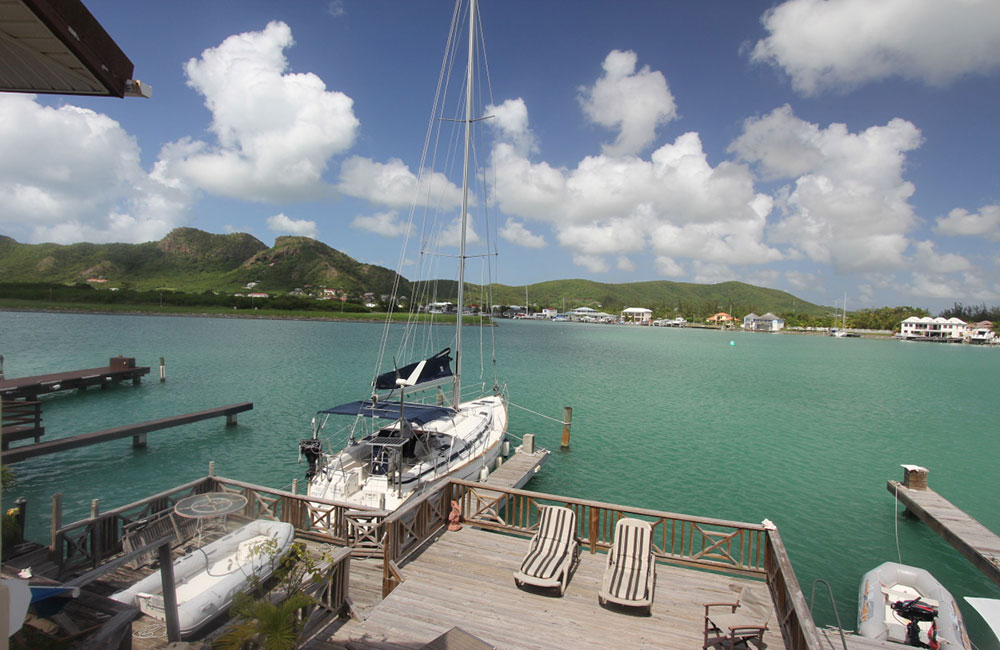 jolly harbour 2-bed marina villa in Antigua with mooring for sale