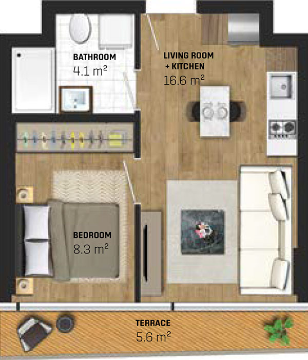 1 Bed Apartment (type A)