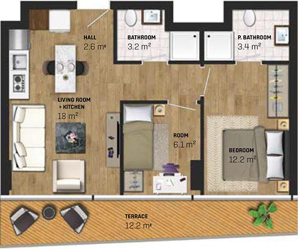 2 Bed Apartment (type A)