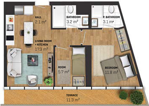 2 Bed Apartment (type B)