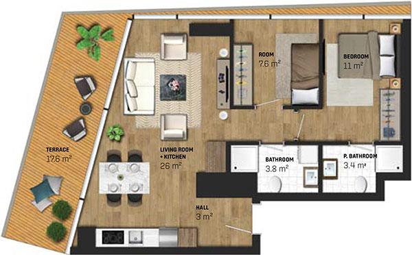 2 Bed Apartment (type C)