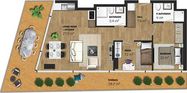 2 Bed Apartment (type D)
