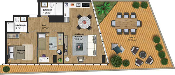 2 Bed Apartment (type E)