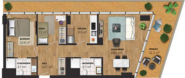 2 Bed Apartment (type F)