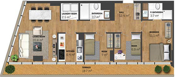 3 Bed Apartment (type A)
