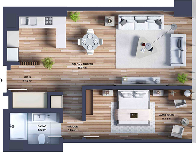 Deluxe 1 Bed Apartment