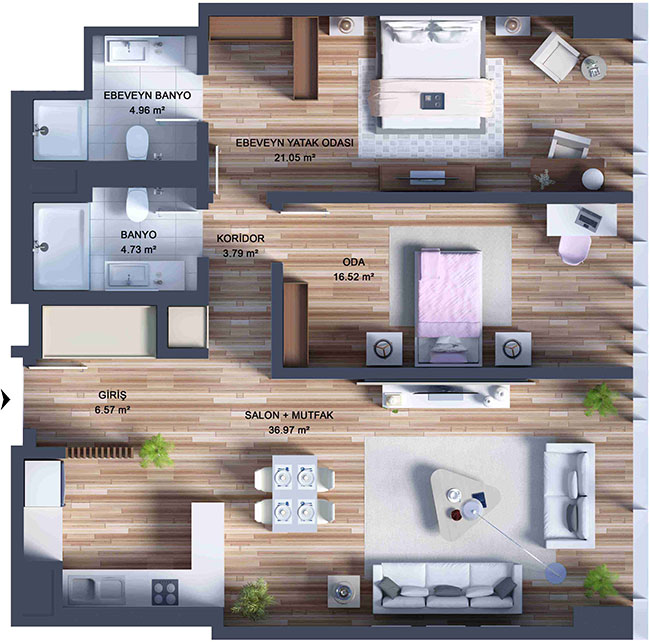 Deluxe 2 Bed Apartment