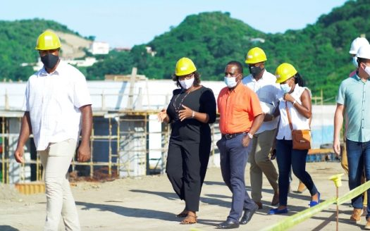 Prime Minister Dr the Right Honourable Keith Mitchell visited the Kimpton Kawana Bay site